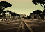 Colosseum Street, Rome, Italy. Travel Print/Poster/Canvas. Sizes: A3/A2/A1